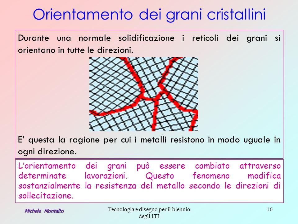 Orientamento dei grani cristallini