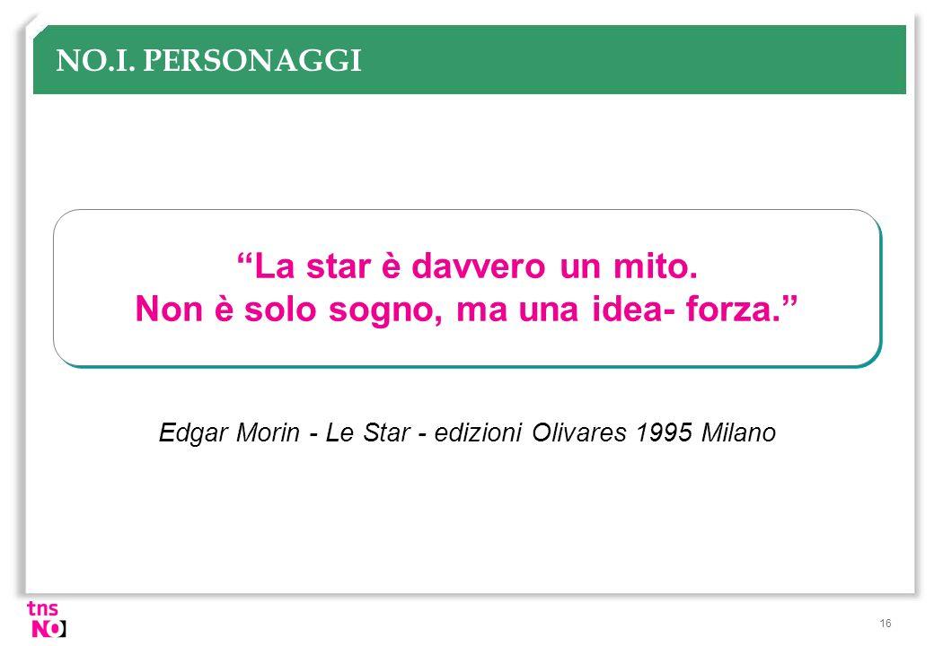 La star è davvero un mito. Non è solo sogno, ma una idea- forza.