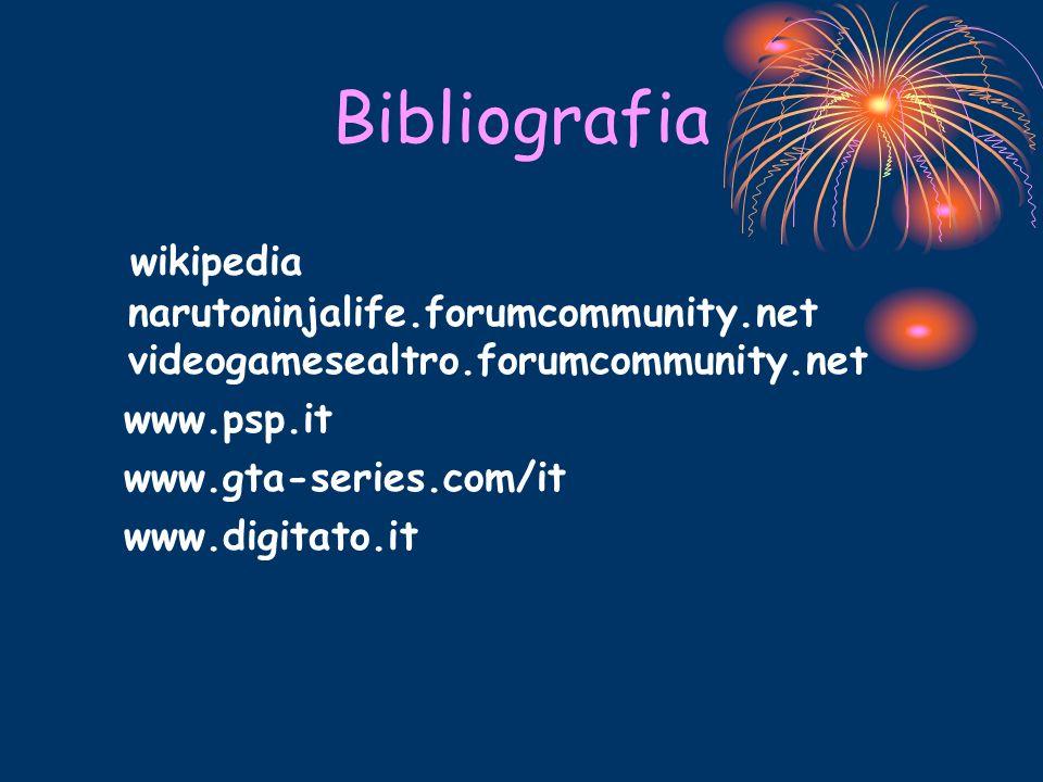 Bibliografia wikipedia narutoninjalife.forumcommunity.net videogamesealtro.forumcommunity.net. www.psp.it.