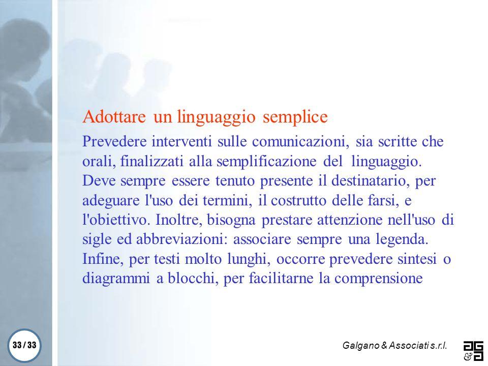 Adottare un linguaggio semplice