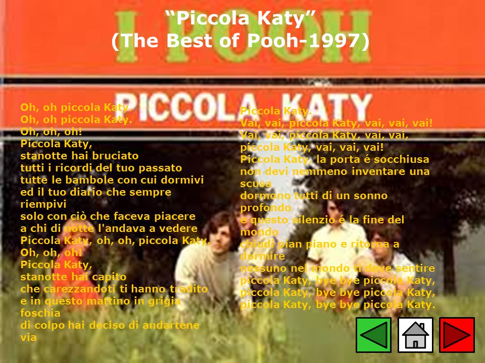 Piccola Katy (The Best of Pooh-1997)