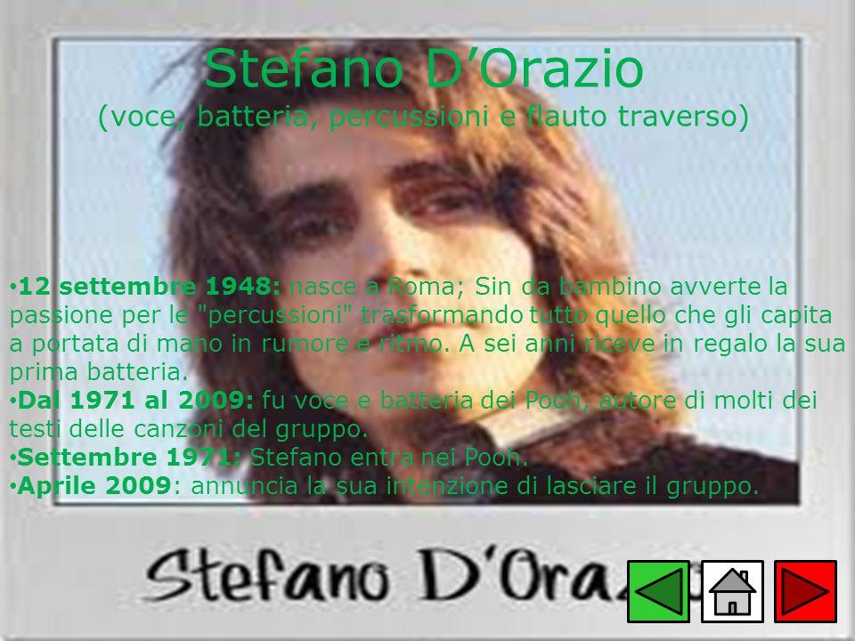 Stefano D'Orazio (voce, batteria, percussioni e flauto traverso)