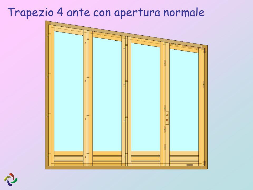Trapezio 4 ante con apertura normale