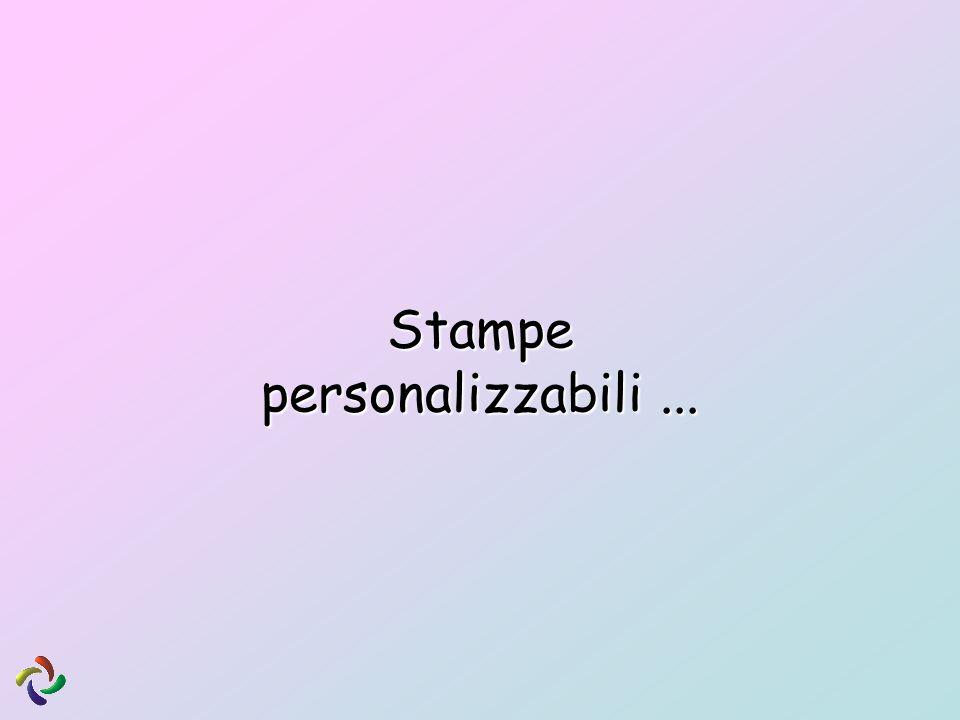 Stampe personalizzabili ...