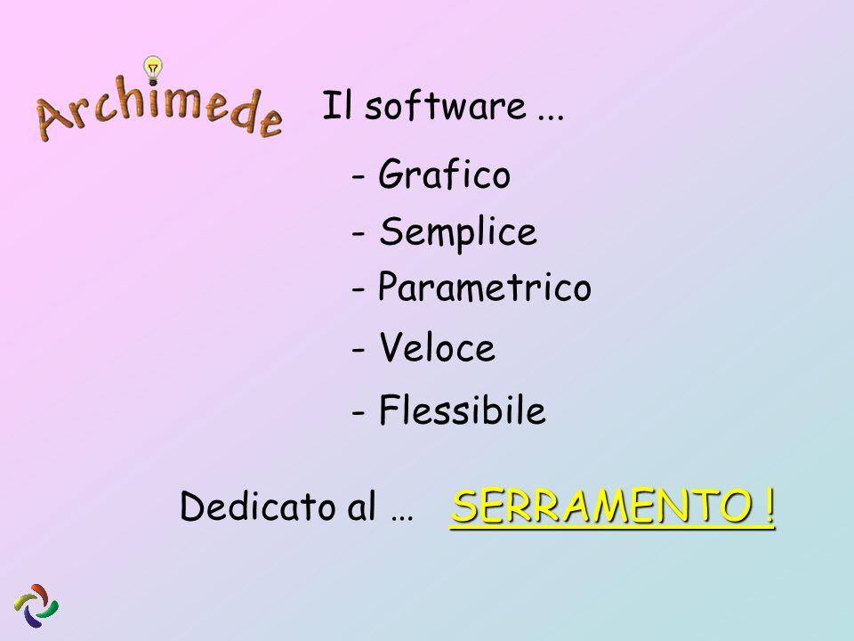 SERRAMENTO ! Il software ... - Grafico - Semplice - Parametrico