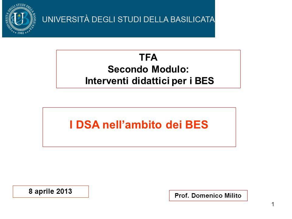 Interventi didattici per i BES I DSA nell'ambito dei BES