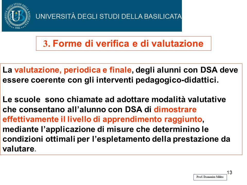 3. Forme di verifica e di valutazione