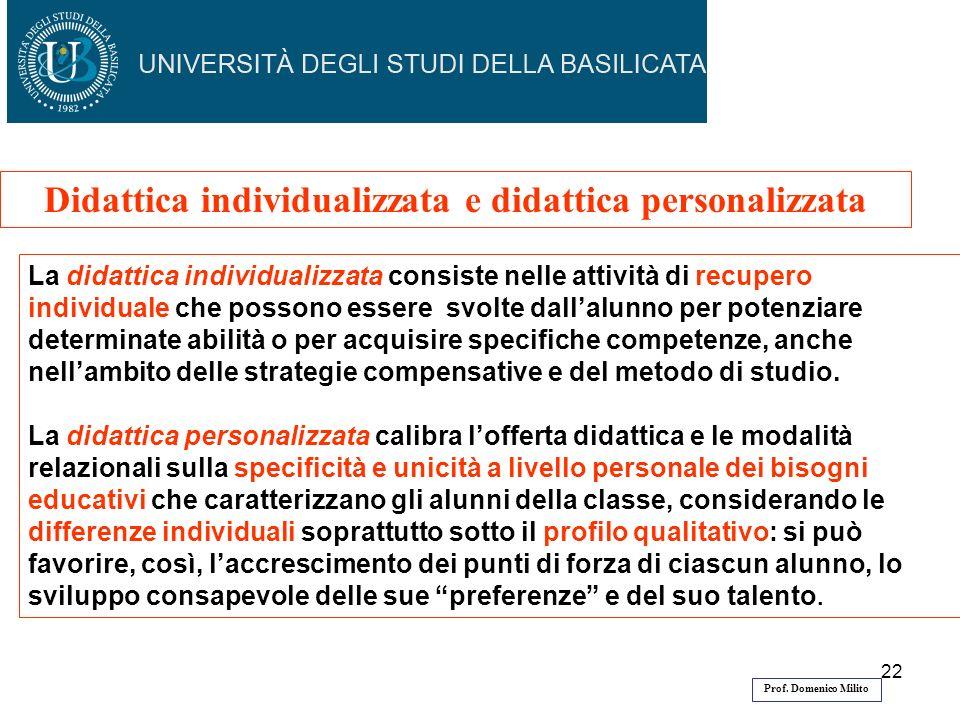 Didattica individualizzata e didattica personalizzata