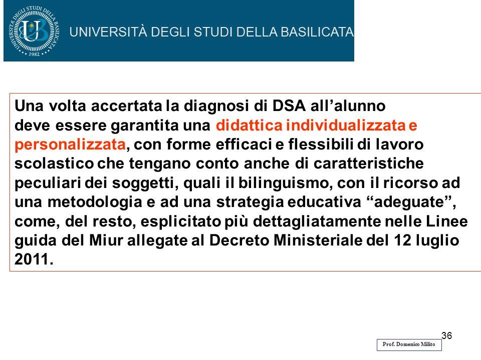 Una volta accertata la diagnosi di DSA all'alunno