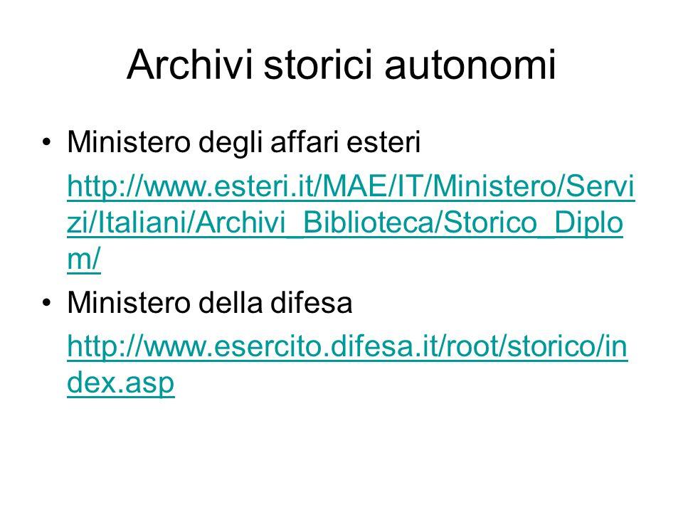 Archivi storici autonomi