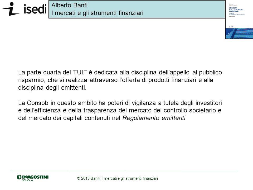 La parte quarta del TUIF è dedicata alla disciplina dell'appello al pubblico