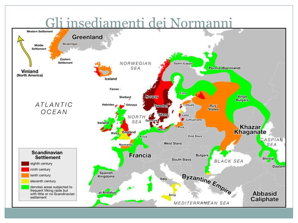 Gli insediamenti dei Normanni