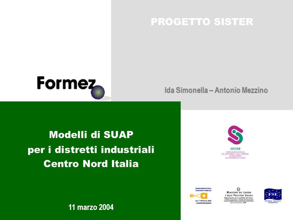 Modelli di SUAP per i distretti industriali Centro Nord Italia