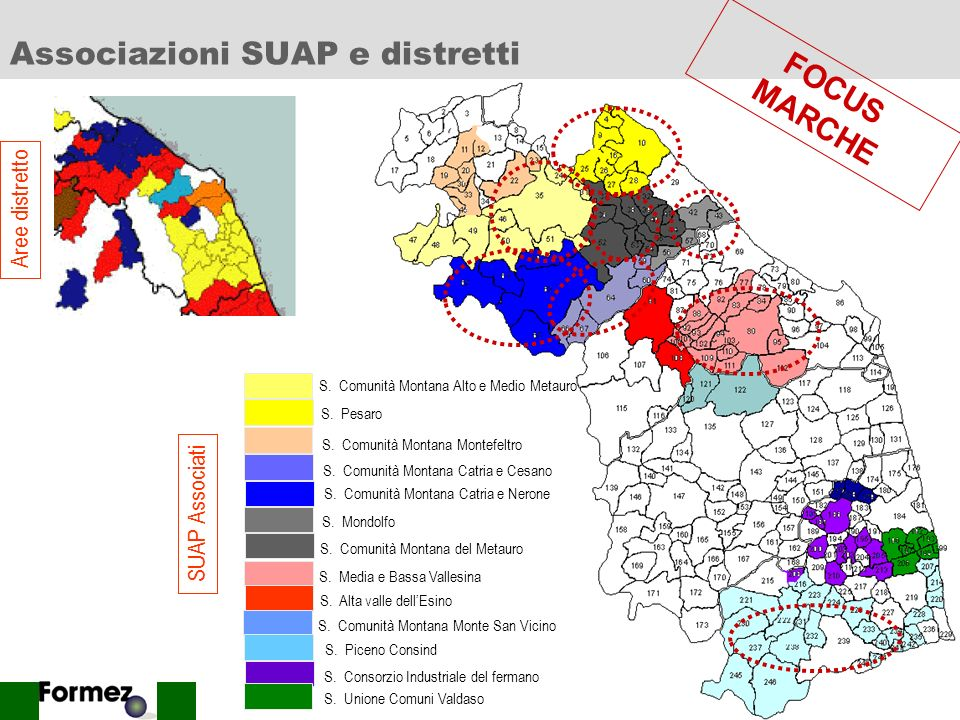 Associazioni SUAP e distretti
