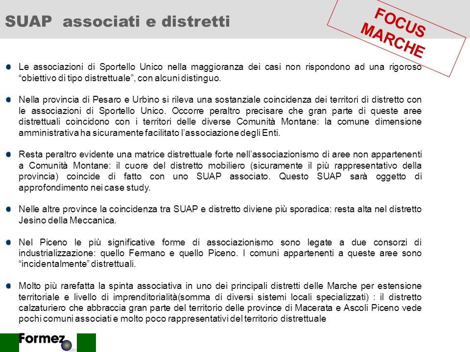 SUAP associati e distretti FOCUS MARCHE