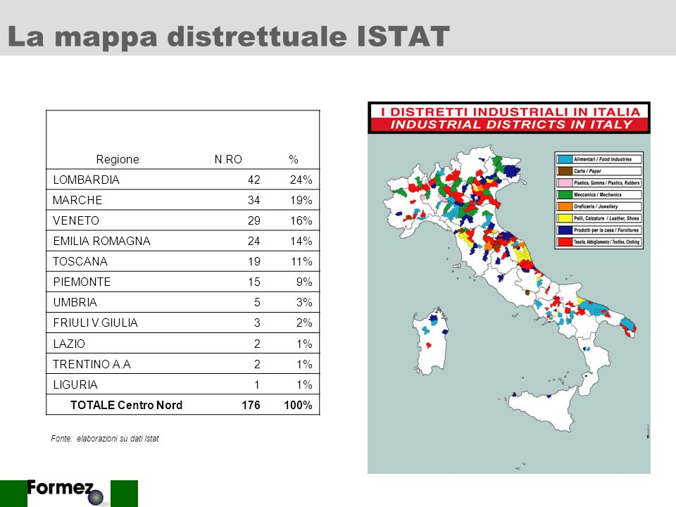 La mappa distrettuale ISTAT