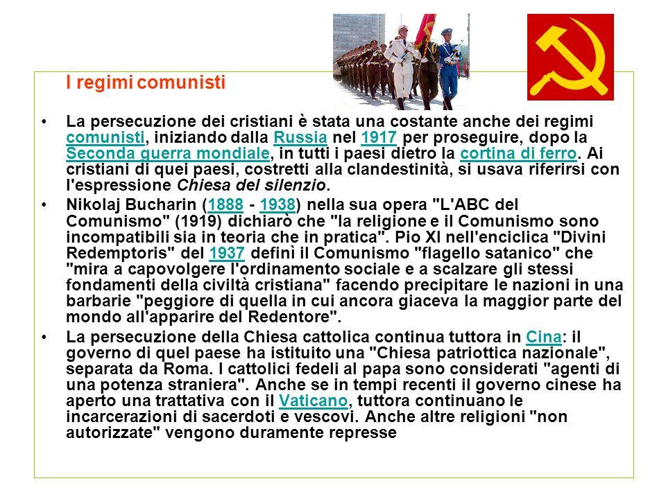 I regimi comunisti
