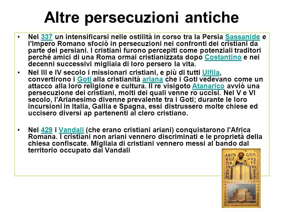 Altre persecuzioni antiche
