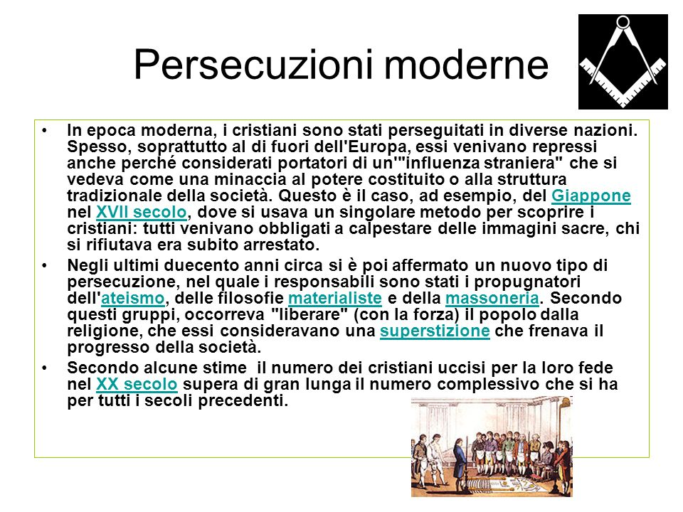 Persecuzioni moderne