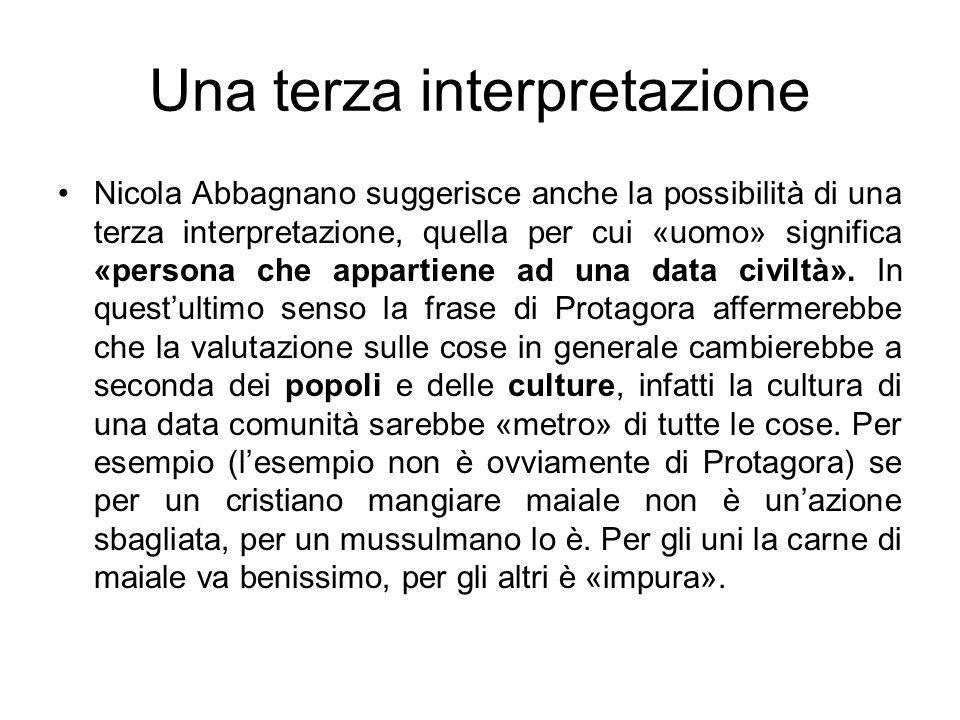 Una terza interpretazione