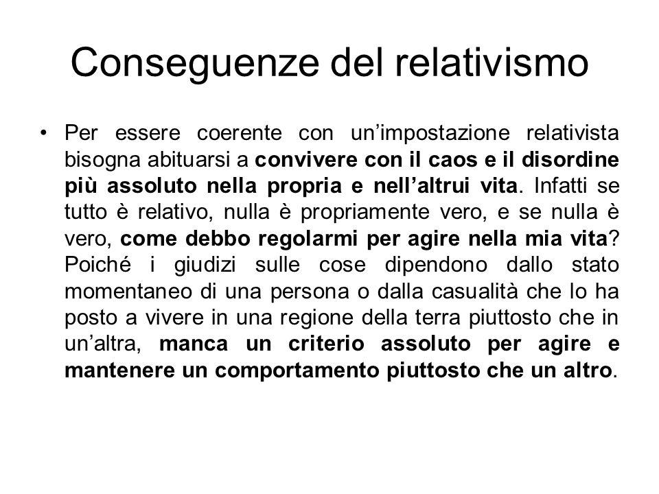 Conseguenze del relativismo