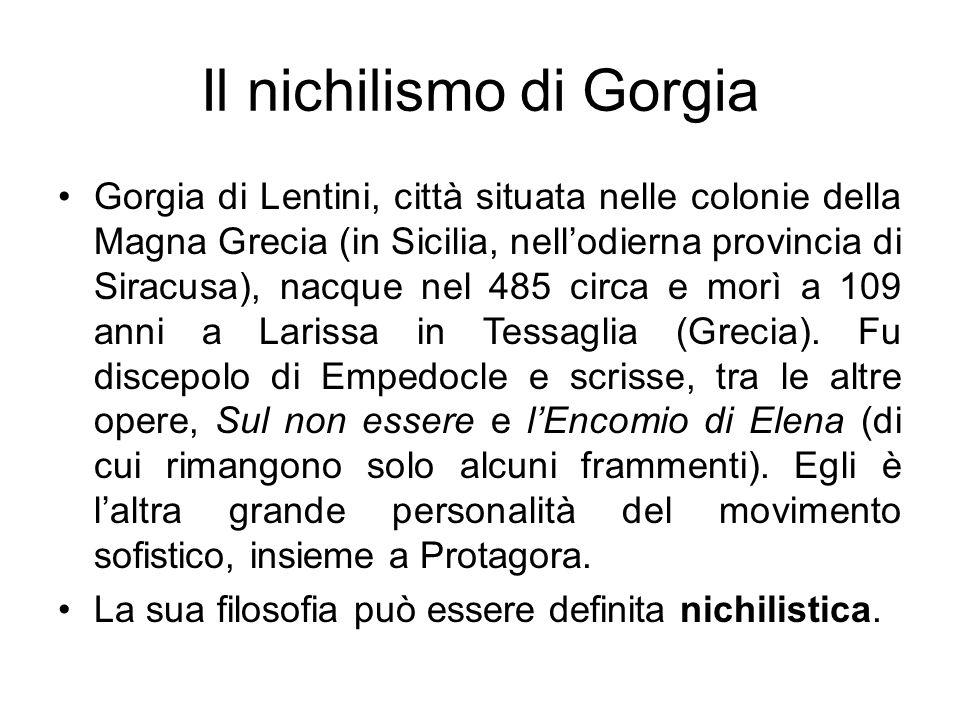 Il nichilismo di Gorgia