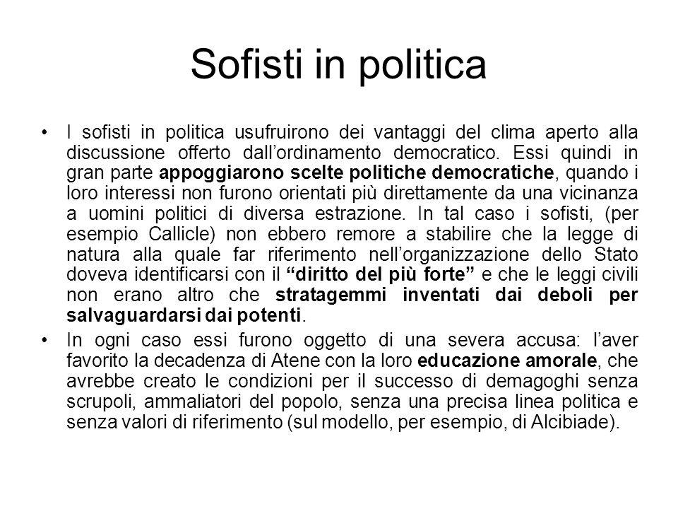 Sofisti in politica