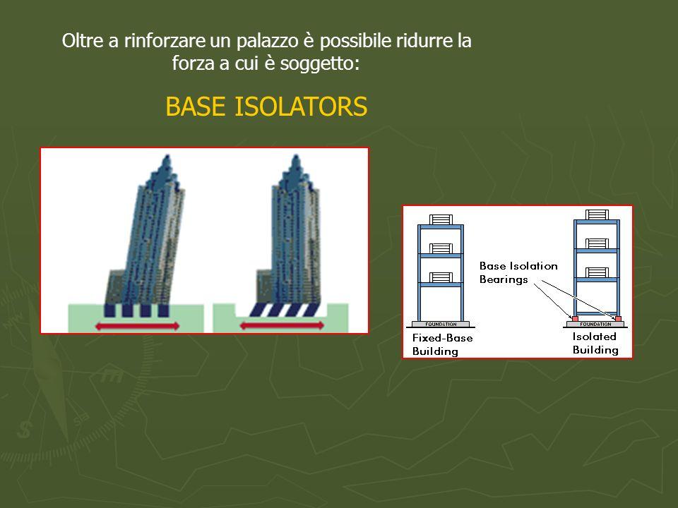 Oltre a rinforzare un palazzo è possibile ridurre la forza a cui è soggetto: