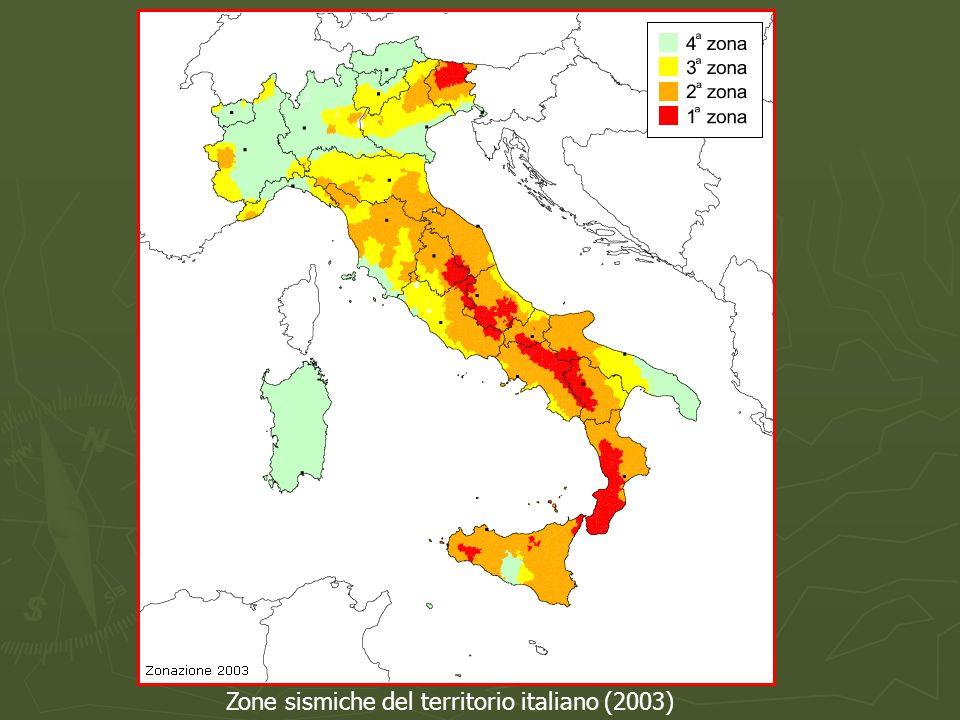 Zone sismiche del territorio italiano (2003)