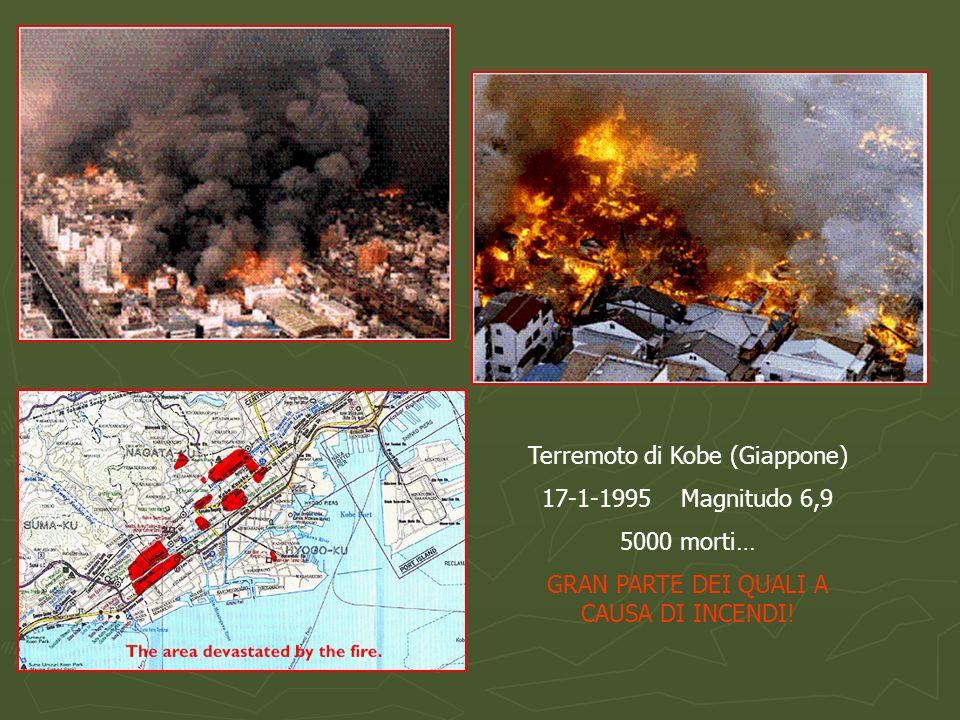 Terremoto di Kobe (Giappone) 17-1-1995 Magnitudo 6,9 5000 morti…