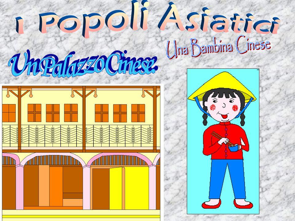 I Popoli Asiatici Una Bambina Cinese Un Palazzo Cinese.