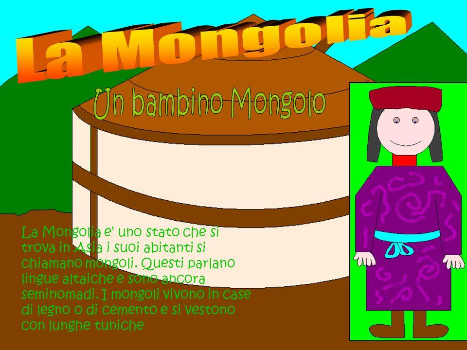 La MongoliaUn bambino Mongolo.