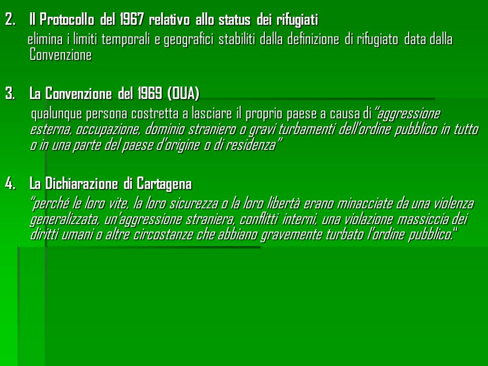 Il Protocollo del 1967 relativo allo status dei rifugiati