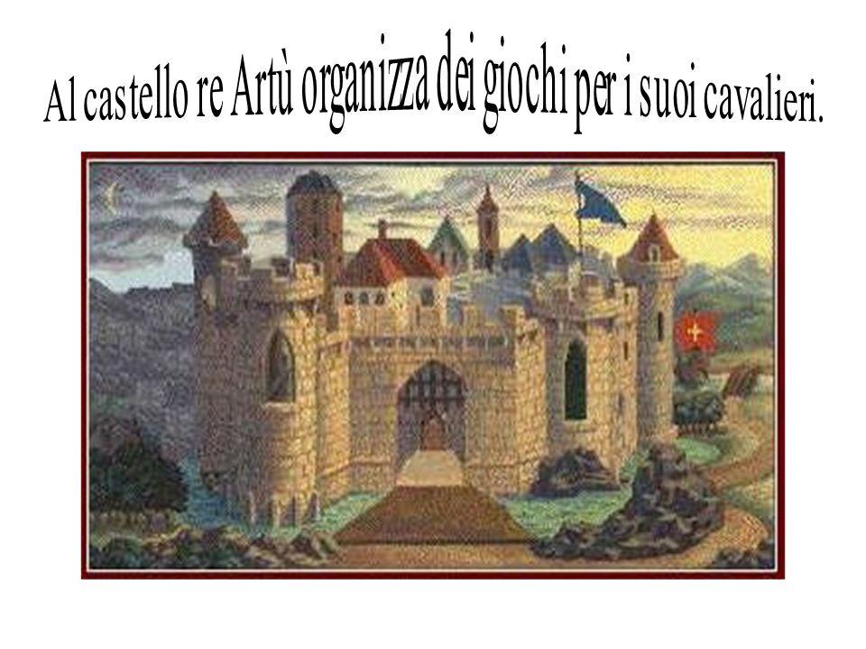 Al castello re Artù organizza dei giochi per i suoi cavalieri.