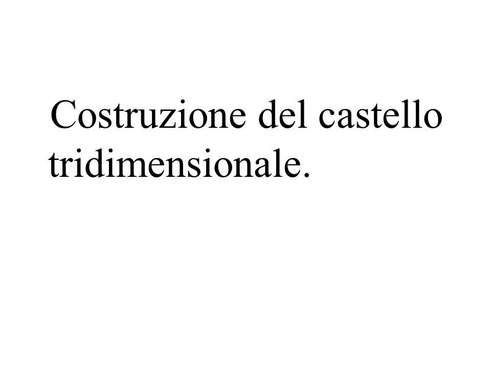 Costruzione del castello tridimensionale.