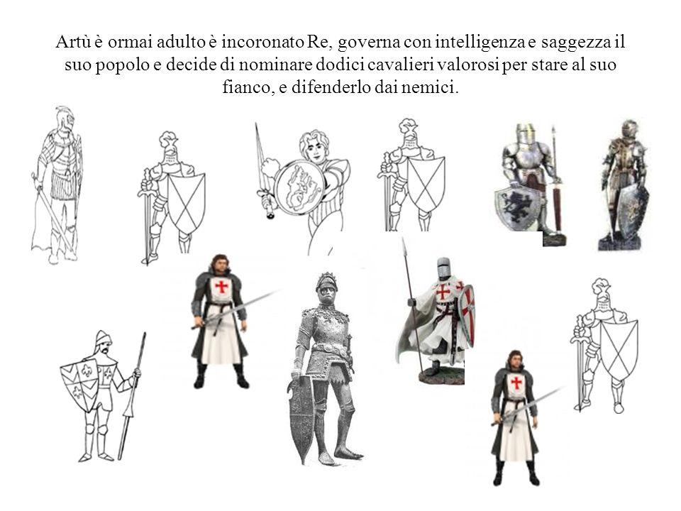 Artù è ormai adulto è incoronato Re, governa con intelligenza e saggezza il suo popolo e decide di nominare dodici cavalieri valorosi per stare al suo fianco, e difenderlo dai nemici.