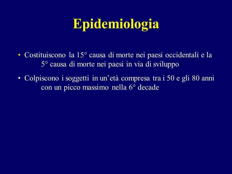 Epidemiologia Costituiscono la 15° causa di morte nei paesi occidentali e la 5° causa di morte nei paesi in via di sviluppo.