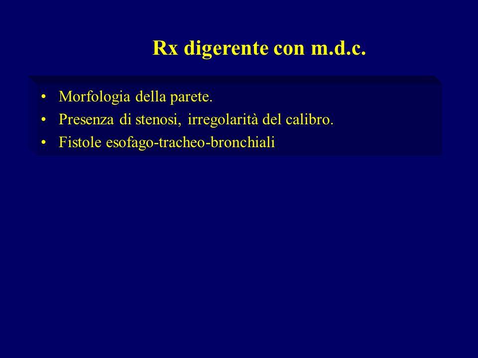 Rx digerente con m.d.c. Morfologia della parete.