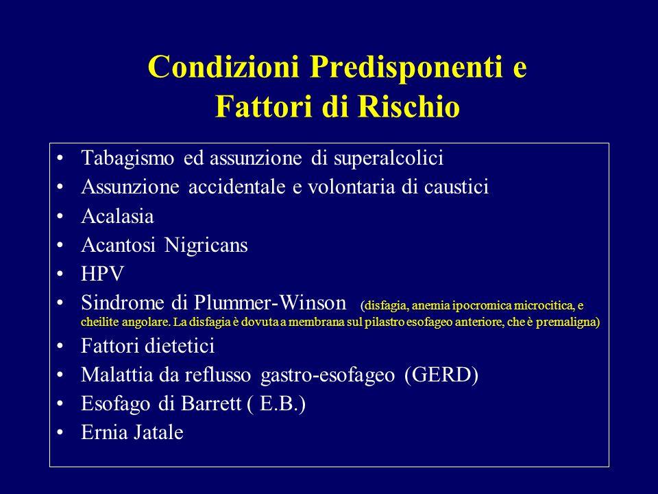 Condizioni Predisponenti e Fattori di Rischio