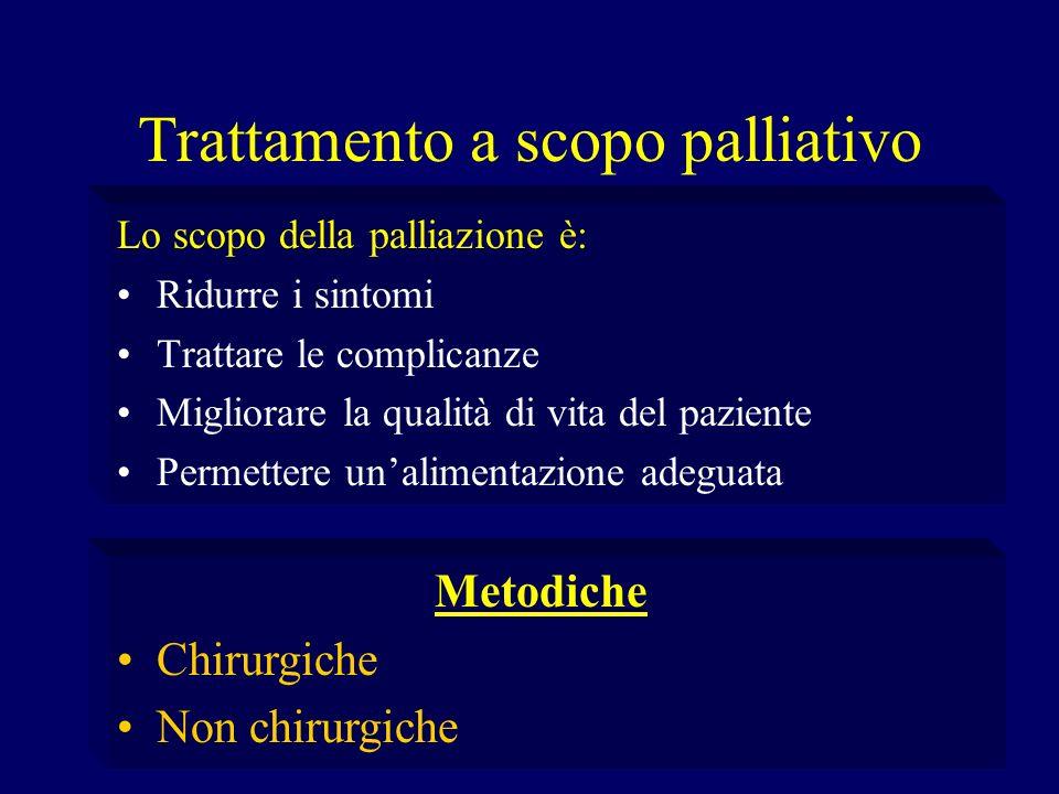 Trattamento a scopo palliativo