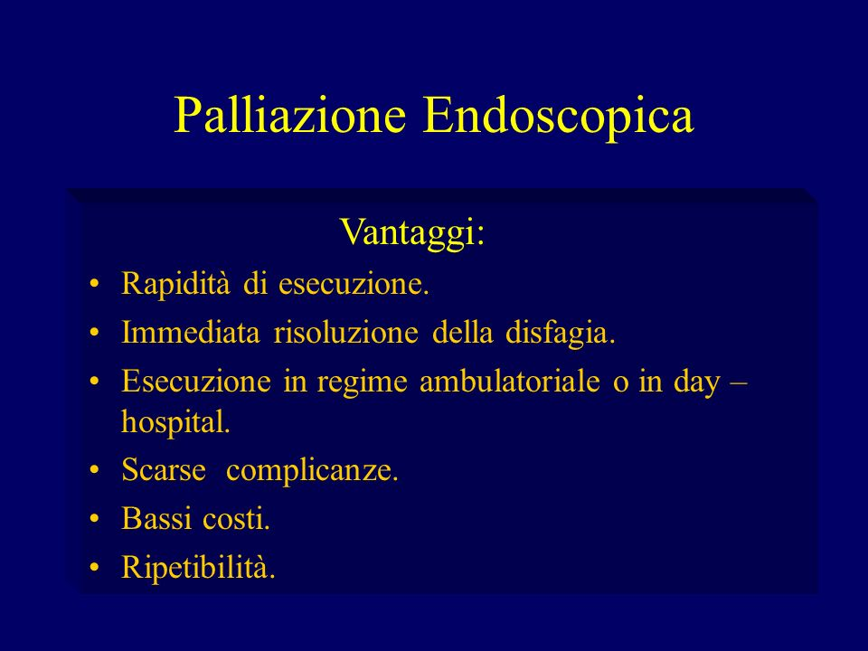 Palliazione Endoscopica