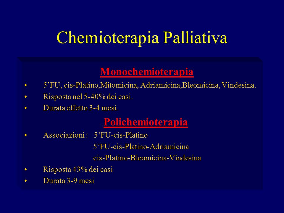 Chemioterapia Palliativa