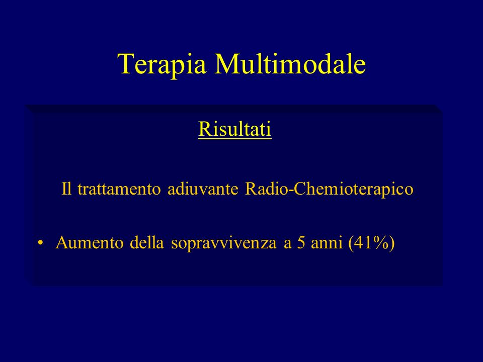 Il trattamento adiuvante Radio-Chemioterapico