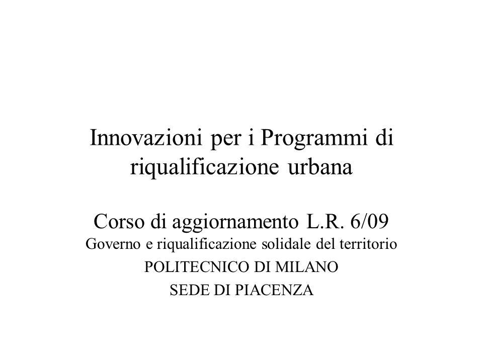 Innovazioni per i Programmi di riqualificazione urbana