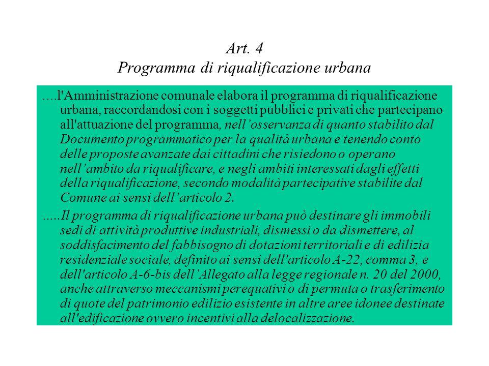 Art. 4 Programma di riqualificazione urbana