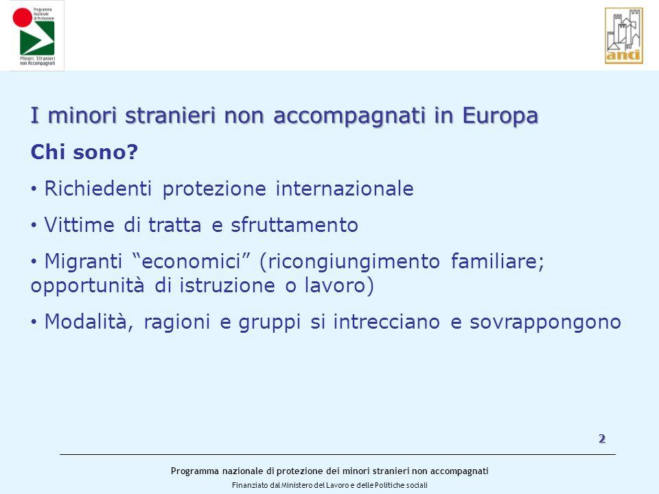 I minori stranieri non accompagnati in Europa