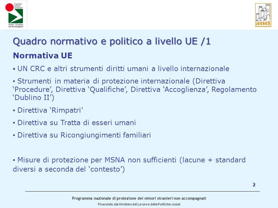 Quadro normativo e politico a livello UE /1