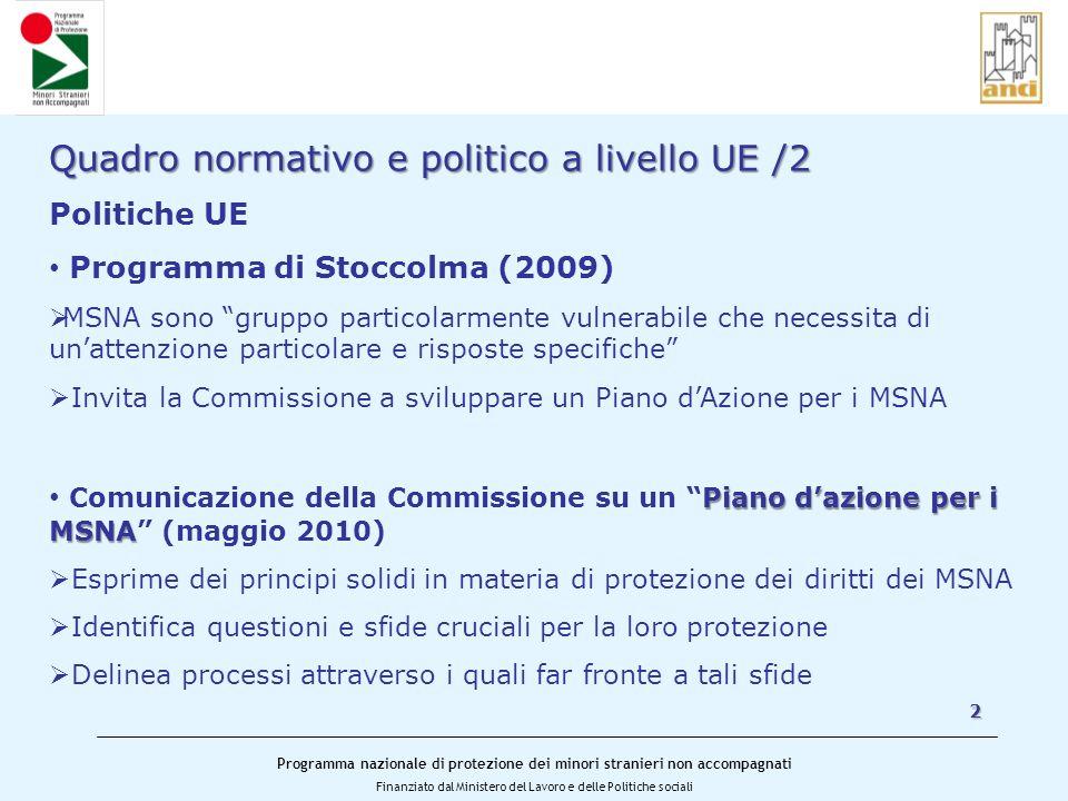 Quadro normativo e politico a livello UE /2