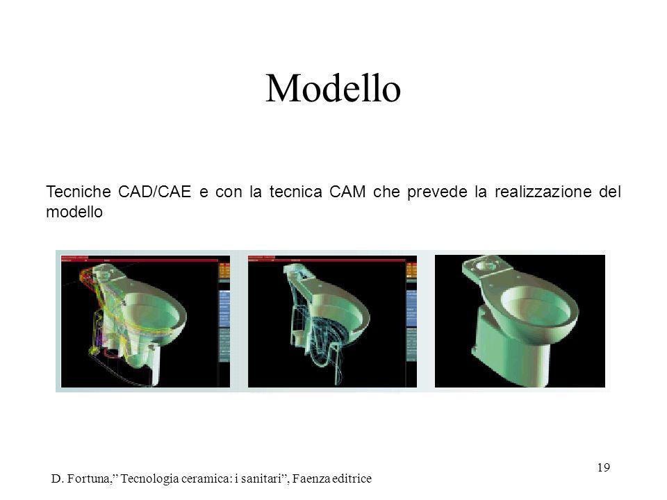 Modello Tecniche CAD/CAE e con la tecnica CAM che prevede la realizzazione del modello.