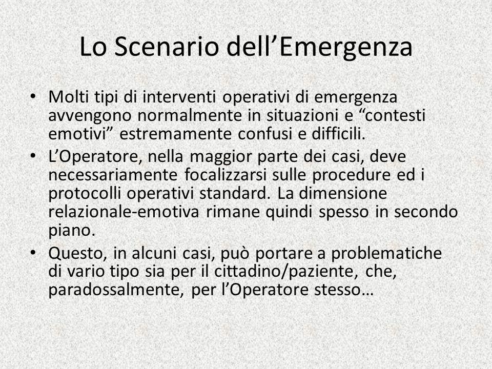 Lo Scenario dell'Emergenza